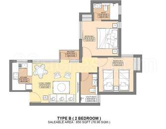 2 BHK Apartment in Jaypee Greens Aman 2
