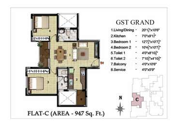 2 BHK Apartment in JBM GST Grand