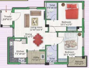 2 BHK Apartment in Jeno Gaiblet Babilonne
