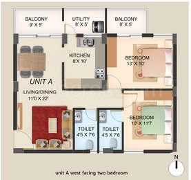 2 BHK Apartment in Jeno Sougoumaran