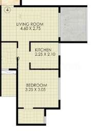 1 BHK Apartment in Jindal Residency