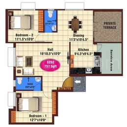 2 BHK Apartment in JKB Grand View