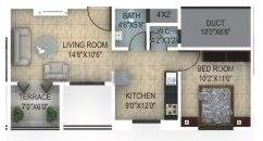 1 BHK Apartment in JM Construction Amar 127