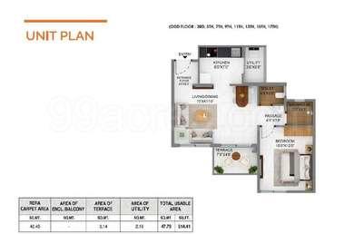 1 BHK Apartment in Joyville Hinjawadi by Shapoorji Pallonji
