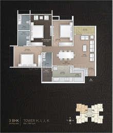 3 BHK Apartment in JP Iscon Platinum