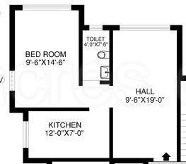 1 BHK Apartment in K Raheja Gardens
