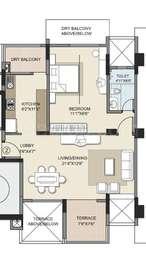 1 BHK Apartment in Kalpataru Splendour