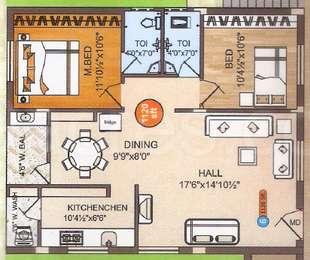 2 BHK Apartment in Kalyan Habitat