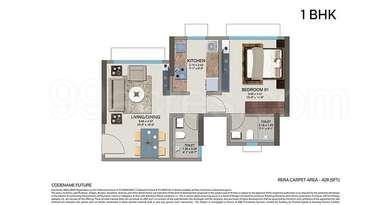 1 BHK Apartment in Kanakia Codename Future