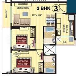 2 BHK Apartment in Platino at Kanakia Levels