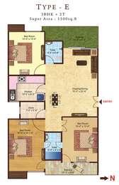 3 BHK Apartment in Kanodia Skanda Apartments 2
