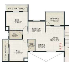 2 BHK Apartment in Karda Deolali Plaza