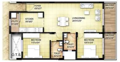2 BHK Apartment in KBL Passion