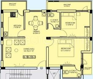 2 BHK Apartment in Keerthi Kiruba Palace