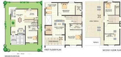 Keerthi Richmond Villas - 4BHK+4T+Pooja+Study(2), Super Area: 3412 sq ft, Villa