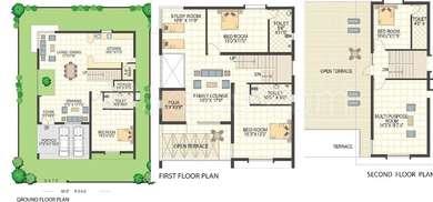 Keerthi Richmond Villas - 4BHK+4T+Pooja+Study(3), Super Area: 3602 sq ft, Villa