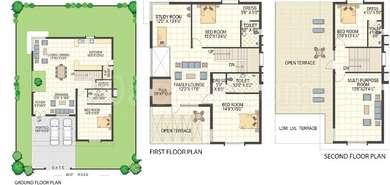 Keerthi Richmond Villas - 4BHK+4T+Pooja+Study(6), Super Area: 3804 sq ft, Villa