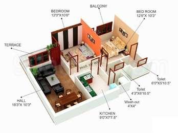 2 BHK Apartment in Kemtani Koushalya Exotica