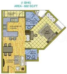 1 BHK Apartment in Kent Mahal