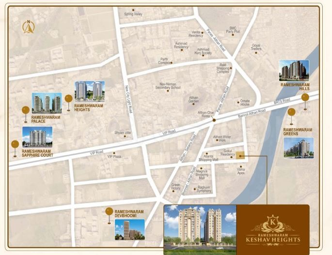 Rameshwaram Group And Somiba Group Keshav Heights Map Keshav