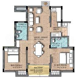 2 BHK Apartment in KG Earth Homes