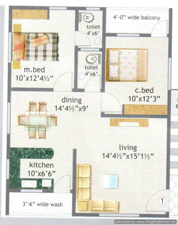 House plan 800 sq ft chennai for Indian house plan for 800 sq ft