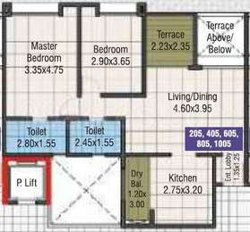 2 BHK Apartment in Kumar Picasso