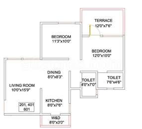 2 BHK Apartment in 33 Milestone