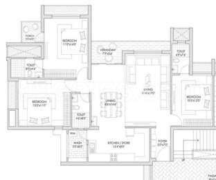 3 BHK Apartment in Ladani The Garden City B Lotus