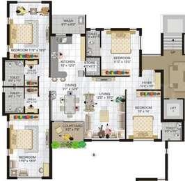 4 BHK Apartment in Shree Maruti Manor