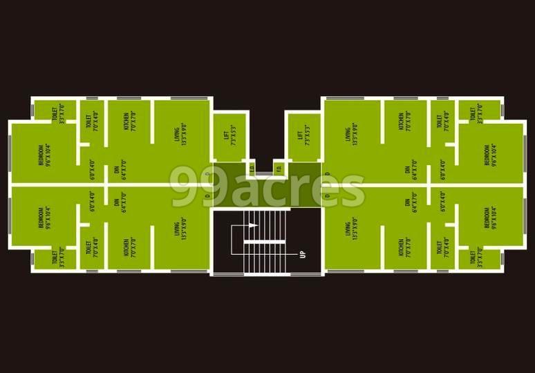Lalit Edifice Typical Floor Plan