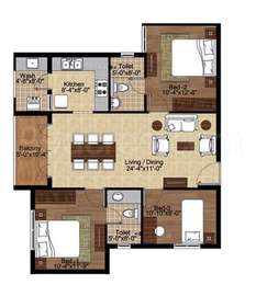 3 BHK Apartment in Lancor The Central Park
