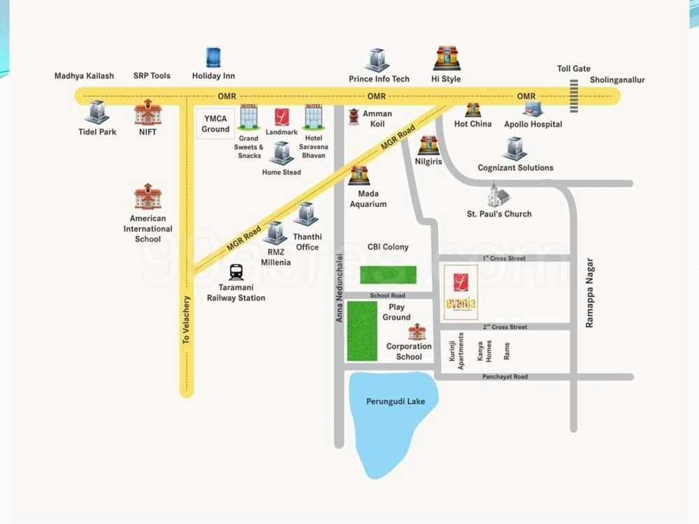 Landmark Constructions Builders Landmark Evania Map