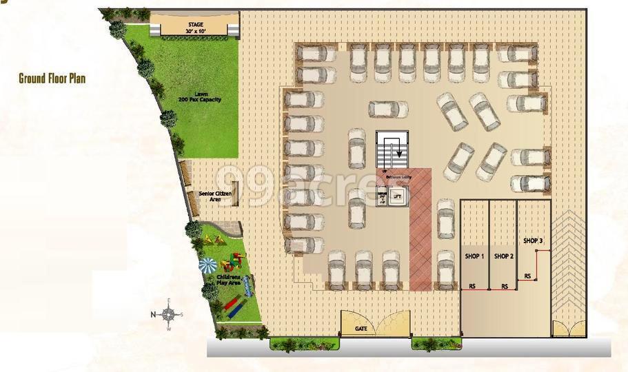 Landmark Orchid Crown Typical Floor Plan