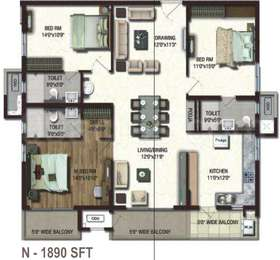 3 BHK Apartment in Lansum Etania