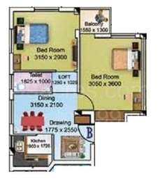 2 BHK Apartment in Larica Tolly