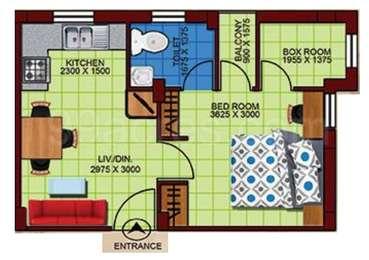 1 BHK Apartment in Larica Township