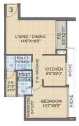 1 BHK Apartment in Laxmi Avenue D Global City