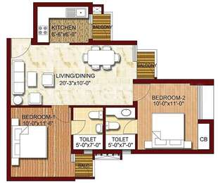 2 BHK Apartment in Logix Blossom Greens