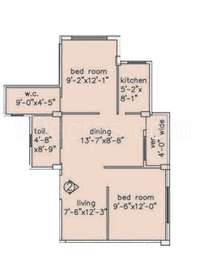 2 BHK Apartment in Loharuka Green Enclave