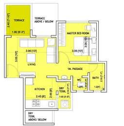 1 BHK Apartment in Sai Dwarika