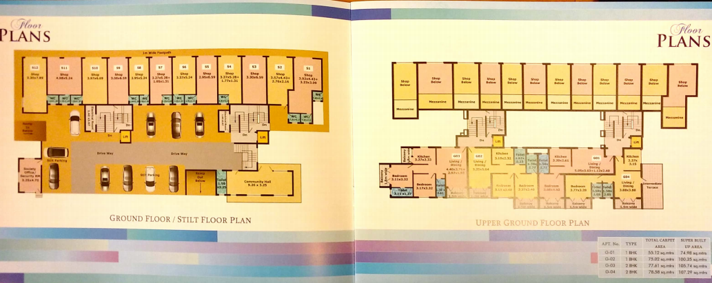 Mafcon Antoo Enclave Typical Floor Plan 1