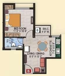 1 BHK Apartment in Magnolia Fantasia