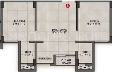2 BHK Apartment in Magnolia Nakshatra