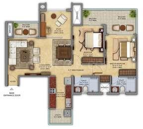 2 BHK Apartment in Mahagun Meadows