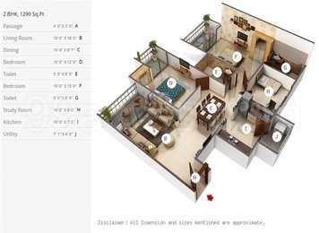 2 BHK Apartment in Mahagun Moderne