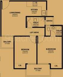 2 BHK Apartment in Mahagun Mantra 1 and 2