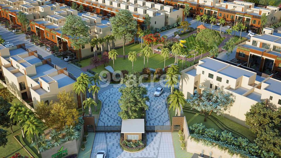 Mahima Spring Villa Aerial View