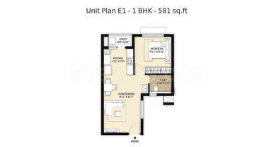 1 BHK Apartment in Mahindra World City