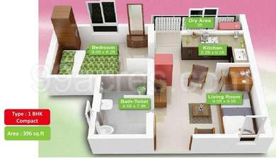 1 BHK Apartment in Mahindra Lifespaces Happinest